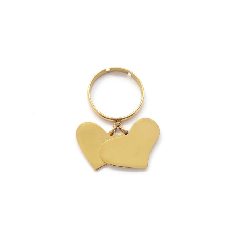 anello-doppio-cuore-pendente-dorato